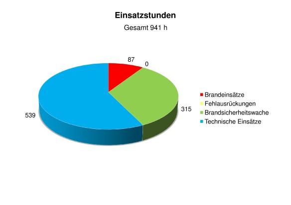 Statistik 2013 Einsatzstunden